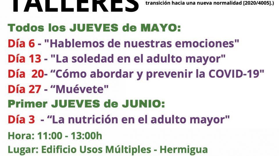 Hermigua contará con talleres para un envejecimiento activo en mayo y junio